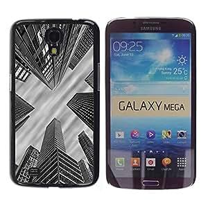 Be Good Phone Accessory // Dura Cáscara cubierta Protectora Caso Carcasa Funda de Protección para Samsung Galaxy Mega 6.3 I9200 SGH-i527 // City Architecture Nyc Boston White