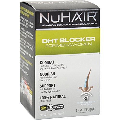 NuHair DHT Blocker for Men and Women - Natural Solution for Hair Rejuvenation - 60 Tablets (Pack of 2)