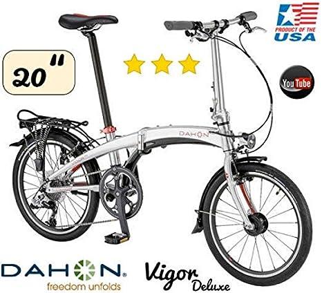 Dahon bicicleta plegable Vigor D9/20/9gang/Deluxe Versión: Amazon ...
