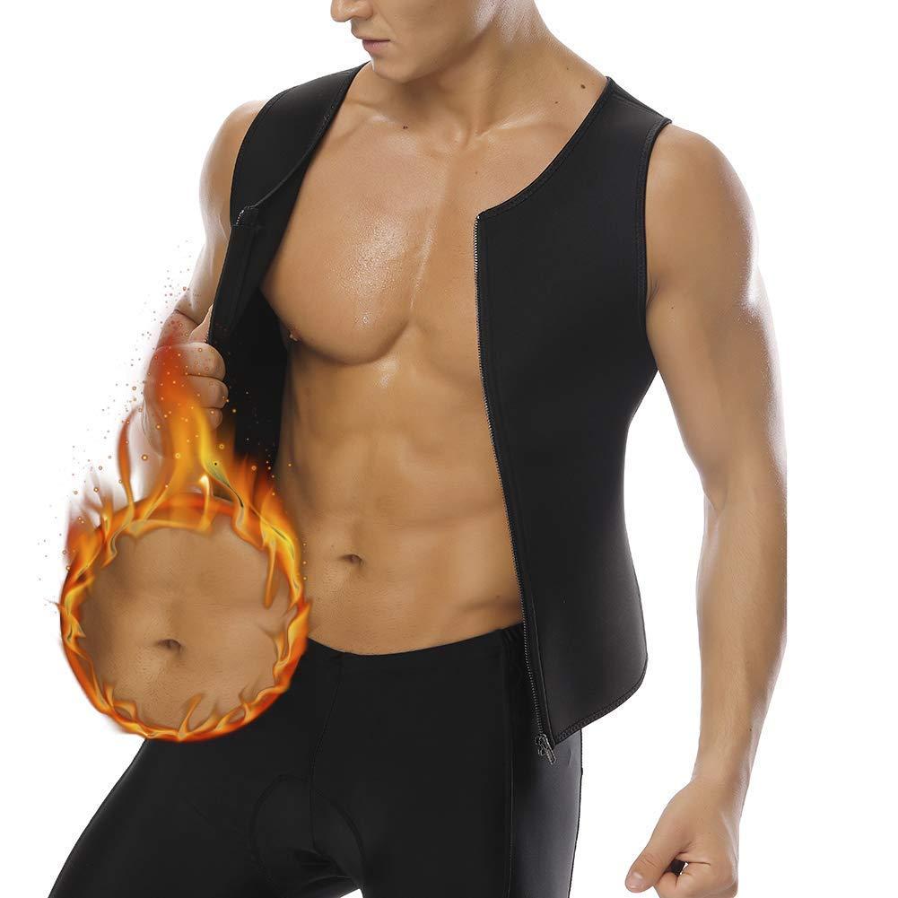 HuntDream Gilet in Neoprene da Uomo Sauna Che dimagrisce Top Body Shaper Vita Calda Trainer per Perdita di Peso Tummy Fat Burner Allenamento Completo