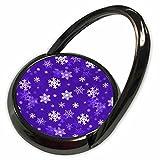3dRose Henrik Lehnerer Designs - Holidays - Light purple winter Christmas snowflakes with a seamless pattern. - Phone Ring (phr_221486_1)