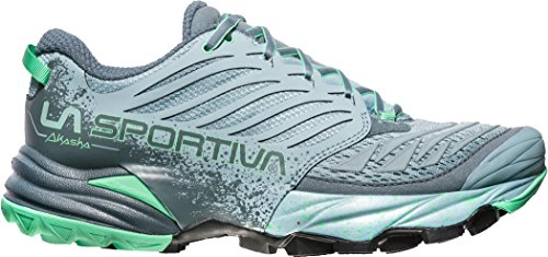 La Sportiva Mutant Trail-schoenen Voor Dames Trail - Ss18 Akasha Woman Stone Blue / Jade Green Talla: 39.5