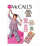 McCall's Patterns M6643 Children's/Girls' Tops/Dress/Shorts/Pants and Sleeping Bag Sewing Template, Size CX (XSM-SML)
