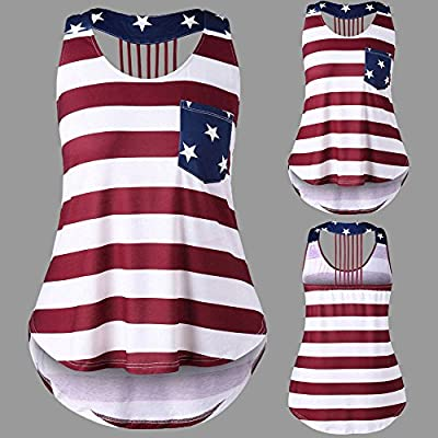 DAYPLAY Womens Distressed Flag Printed Tank Tops Sleeveless Vest for Fourth of July Summer Ladies Loose Plus Size Blouse at  Women's Clothing store