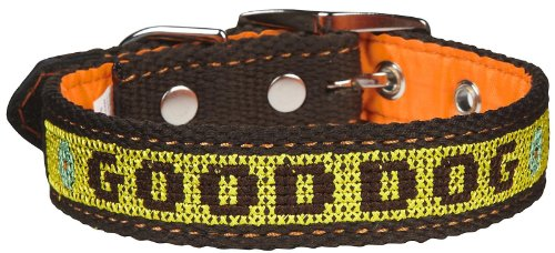 The Life of Ryley Good Dog Collar - Yellow Large