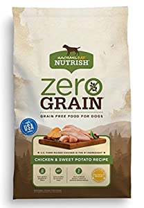 Rachael Ray Nutrish Zero Grain Natural Dry Dog Food, Chicken & Sweet Potato Grain Free Recipe, 28lbs