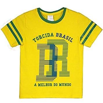 663e36b972 Camiseta Brasil São Francisco Infantil  Amazon.com.br  Esportes e ...