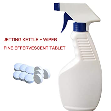 Alftek Kit de Herramientas de Limpieza para Coche 500ml Botella de Spray Concentrado Efervescente Tableta Enjuague Bloque de Vidrio Limpiador: Amazon.es: ...