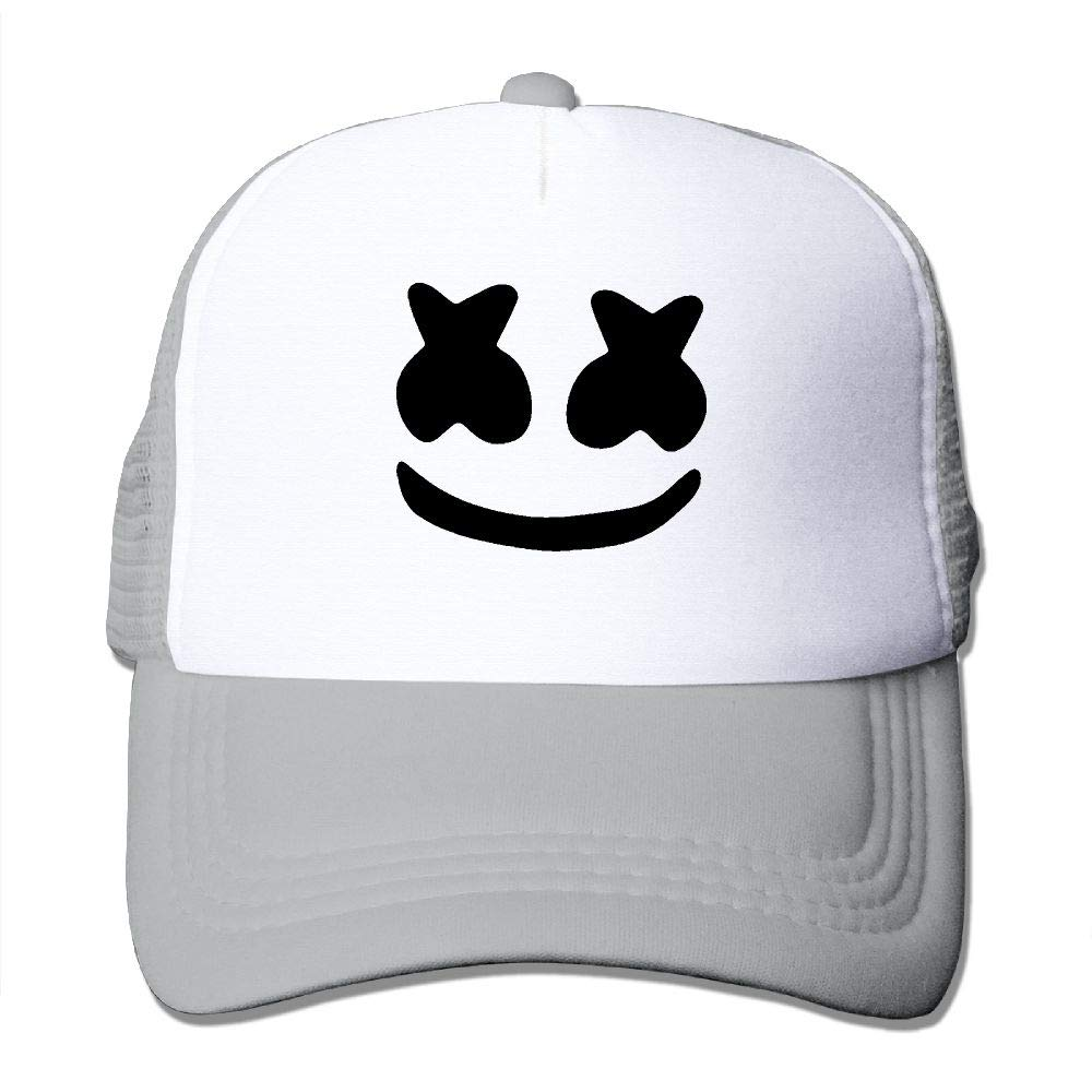 099767f5fe021 Amazon.com  LETI LISW Adult Cool Marshmello Face Adjustable Printing  Snapback Fashion Trucker Hats for Men s  Clothing
