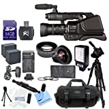 Panasonic AG-AC8PJ AVCCAM HD Shoulder-Mount Camcorder With CS Advanced Kit: Includes High Definition Wide Angle Lens, 2X Telephoto HD Lens, 3 Piece High Resolution Filter Kit, Pro Series Tripod, 64GB SDHC Memory Card, SD Card Reader, LED Video Light, Carr