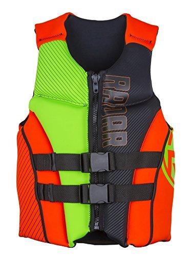 Radar TRA Boy's - Front Zip - CGA Life Vest - Orange/Yellow - Teen (90-120lbs) by Radar