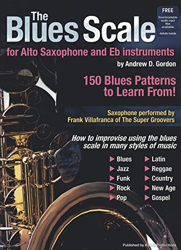 The Blues Scale For Alto Saxophone and Eb instruments Book/digital audio files - Alto Saxophone Scales