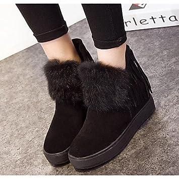fcbab2a53ecc4 RTRY Zapatos de mujer cuero Nappa Moda Invierno botas botas planas botas de tacón  botines