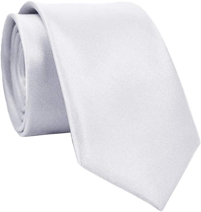 Mayoaoa Corbata de Seda para Hombre, clásica, Monocroma, 5 cm ...