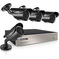 ZOSI 8-Channel HD-TVI 1080N Video Security DVR 720P Surveillance Camera system w/ 4pcs 1.0 Megapixel (1280x720) IP67 Weatherproof CCTV Cameras ,120ft IR-CUT Night Vision NO Hard Drive