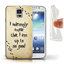 STUFF4 Gel TPU Phone Case / Cover for Samsung Galaxy S5/SV / Marauders Map Design / School Of Magic Collection