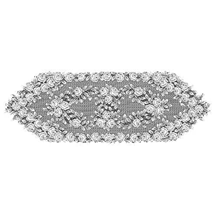 "Heritage Lace ECRU TEA ROSE Table Runner 14/"" x 60/"""