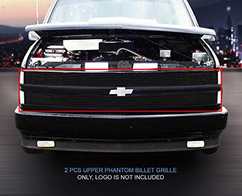 Fedar 1994-1999 Chevy Blaze/C/K Pickup/Suburban/Tahoe Phantom Billet Grille Grill 2-pcs Set-Black # 320369 (Grille C1500 Billet Suburban)