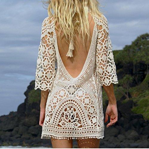 Joyebuy Womens Bathing Suit Beach Cover Up Crochet Lace Bikini
