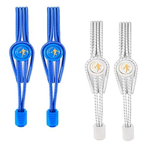 EIKOSON Elastic No Tie Shoelaces, Reflective Shoelace,No Tie Elastic Shoe Laces for Sneaker(2 pairs)