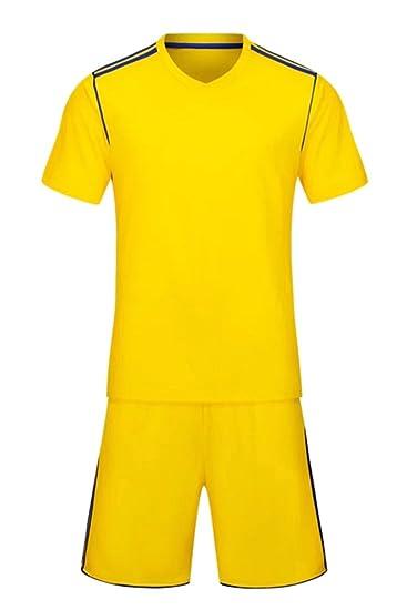 KINDOYO Niño Hombres Equipo de Fútbol Entrenamiento Competencia Ropa  Deportiva Conjunto de Camiseta y Pantalones Cortos  Amazon.es  Ropa y  accesorios 5ad85d9aa1c66