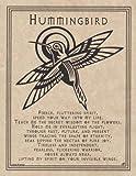 AzureGreen EPHUMP Hummingbird Prayer Poster