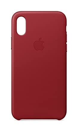 new style 11a00 2f8ba Apple Leather Case (for iPhone X) - (PRODUCT)RED