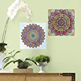 RoomMates RMK3328CYD Mandala Peel and Stick Color Your Decal