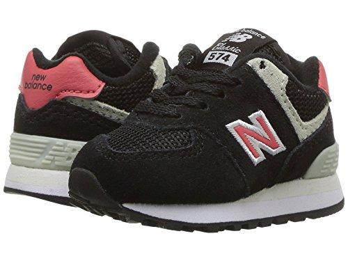 [new balance(ニューバランス)] メンズランニングシューズ?スニーカー?靴 IC574v1 (Infant/Toddler) Black/Pomelo 8.5 Toddler (15.5cm) M