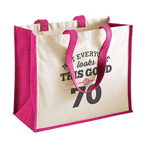 - 70th Birthday, 1949 Keepsake, Funny Gift, For Women, Novelty Gift, Ladies Gifts, Female Birthday Gift, Looking Good Gift, Ladies, Shopping Bag, Present, Tote Bag, Gift Idea (Fuchsia)