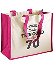 70th Birthday 1949 Keepsake Gift Bag for Women Novelty Shopping Tote