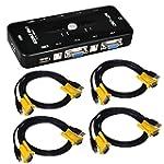 ieGeek� 4 Port USB KVM Switch Box + 4...
