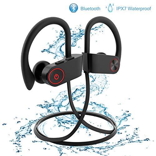 UPSTONE Wireless Earbuds,Bluetooth Earphones Stereo Bass Sports Earphones with Mic IPX7 Waterproof in-Ear Headphones Noise Cancelling (Black)