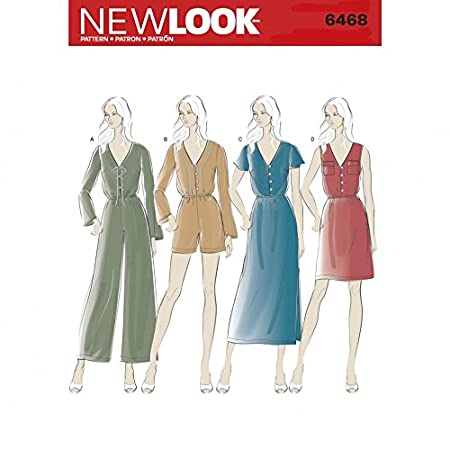 New Look Ladies Sewing Pattern 6468 Dresses & Jumpsuits