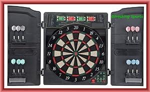 Best Sporting elektronische Dartscheibe OXFORD 1.0, LED Dartautomat Cabinet...