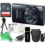 Canon PowerShot ELPH 190 IS 20.2MP 10x Zoom Wi-Fi Digital Camera (Blue) + SanDisk 32GB Card + Reader + Spare Battery + Case + DigitalAndMore Bundle