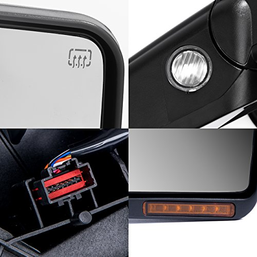dedc towing mirrors ford f150 ford tow mirrors 2007 2014 pair import it all. Black Bedroom Furniture Sets. Home Design Ideas