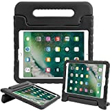 Surom Case for New iPad 9.7 Inch 2018/2017 - ShockProof Case Light Weight Kids Case Cover with Handle Stand Case for iPad 9.7 Inch 2018 & 2017 New Model/iPad Air/iPad Air 2 Tablet, Black