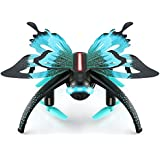 Butterfly Drone, DraWaoy RC Selfie Drone Simulated Butterfly WIFI 2.4GHz RC Quadcopter App Control for iOS Android