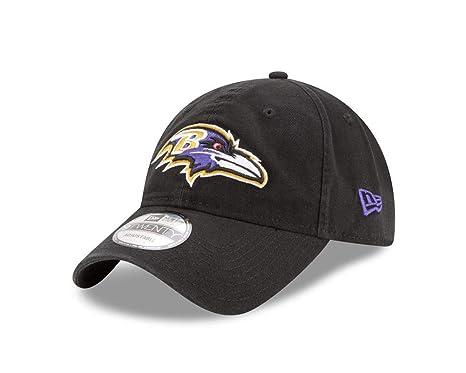 55029bd48 Amazon.com: New Era Men's Baltimore Ravens 9TWENTY Core Black Hat: Clothing