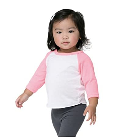 e681deb9a Image Unavailable. Image not available for. Color: American Apparel Kids Infant  Poly-Cotton 3/4 Sleeve Raglan ...