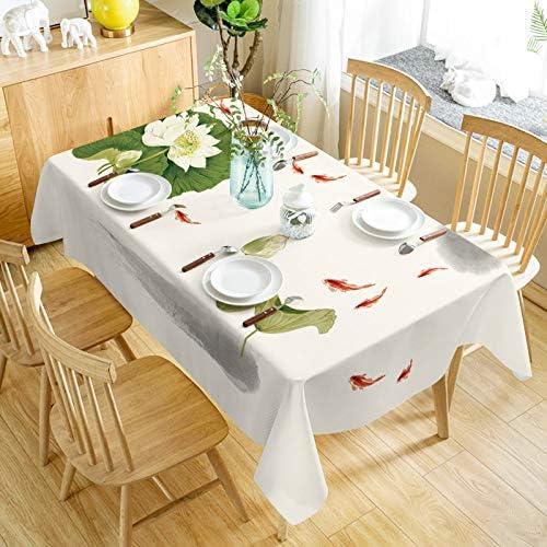 QIGE Manteles Rectangular Mantel Mantel De Algodón De Lino Arte Salón Mesa De Café Casa Rectangular Mantel Impermeable Guanhe 90 * 145 Cm: Amazon.es: Jardín