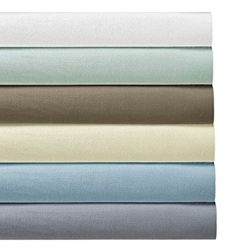 Heavyweight Flannel 100% Cotton Sheet Set- Split King, Ivory, 4PC bed sheets 170 GSM - 300tc King Sheet Set
