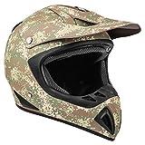 Typhoon Adult Camo ATV Helmet Off Road ORV Motocross DOT Motorcycle Matte Finish Digi Camouflage (Medium)