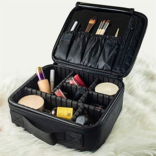 Lvyinyin Makeup Train Case Travel Cosmetic Bag Organizer, Professional Portable 10.2