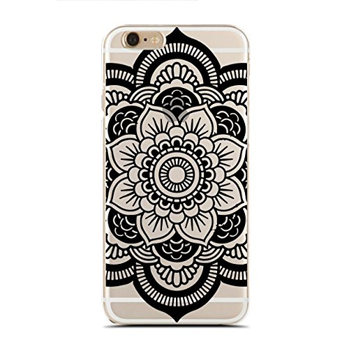 Clear Snap-On case for iPhone 8 - Mandala Flower (C) Andre Gift Shop