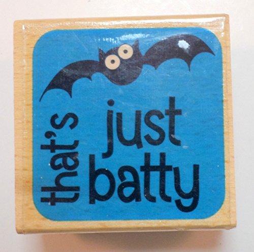 Studio G That's Just Batty Halloween Wooden Rubber Stamp