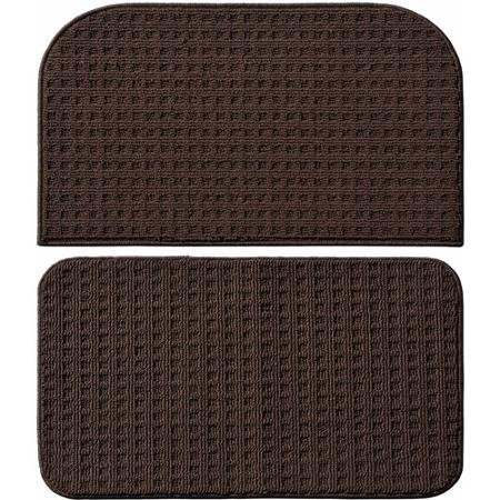 Garland Rug Herald Square 2pc Kitchen Rug Slice and Mat, 18