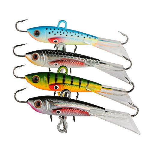 Goture Ice Fishing Jigs With Treble Hook Single Hook For