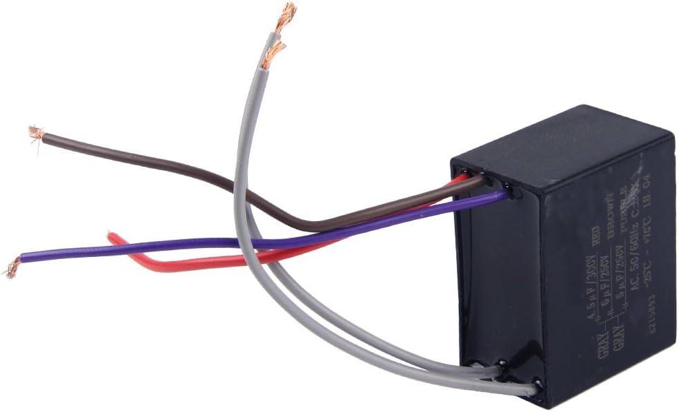 Letaosk CBB61 - Condensador de ventilador de techo CBB61 de 4,5 uf ...